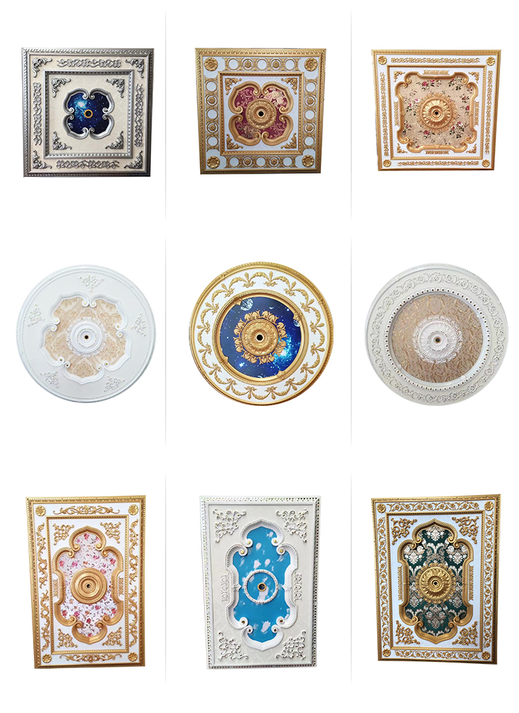 120*180cm Rectangle European Style Artistic Ceilings Ps Decorative Ceiling