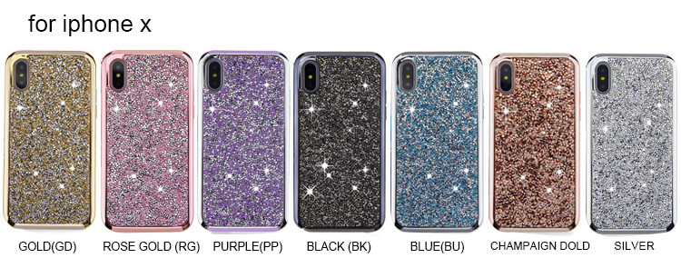 Wholesale bling glitter sparkle for iphone xs bling diamond cover case