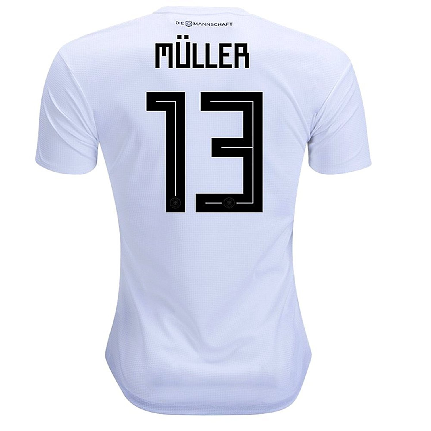 97ac24bf994 Get Quotations · Muller 13 Germany National Socce Team 2018 World Cup Men s  Jersey