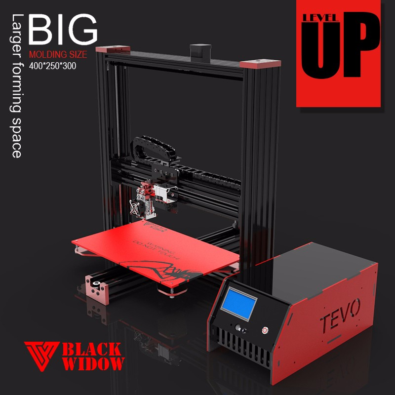 tevo black widow diy 3d printer kit multi color printer 3d desktop