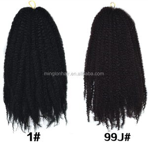 Cheap Price In Wholesale 20inch Silver Grey Hair Afro Twist Braids For Black Women