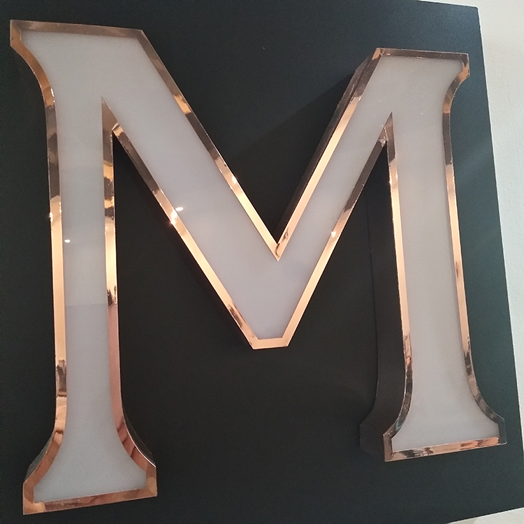 Laser Engraving Acrylic Led Copper Sign Love Letters Wedding