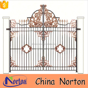parts of china rose iron gate grill designs beautiful iron gate NTIRG-331X