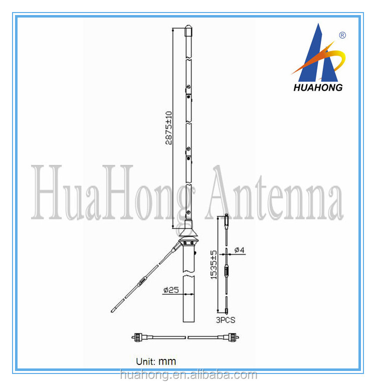 Outdoor omni directional fiberglass 27mhz CB base <strong>antenna</strong>