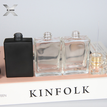30ml clear or black color screw cap decal handling cut glass perfume bottles