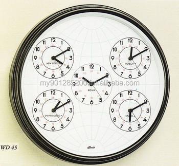 56f7501eb8f Relógio De Parede De Quartzo Com Fuso Horário Mundial - Buy Mundo ...