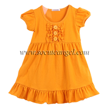 2017 summer little girl short sleeve party tunic kids frocks designs fancy cutting baby dress