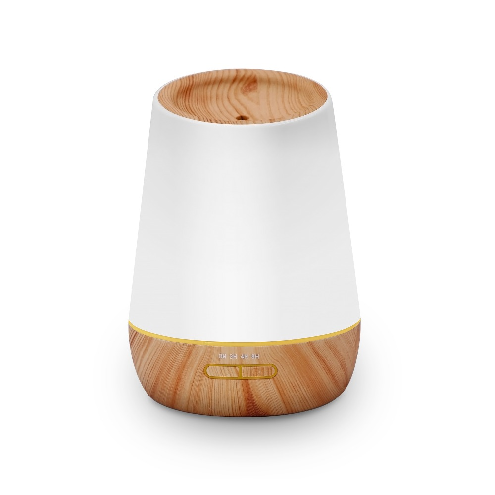 New Ultrasonic 500ml aroma diffuser light wood and dark wood with timer,7 color light,two mist mode,super silent