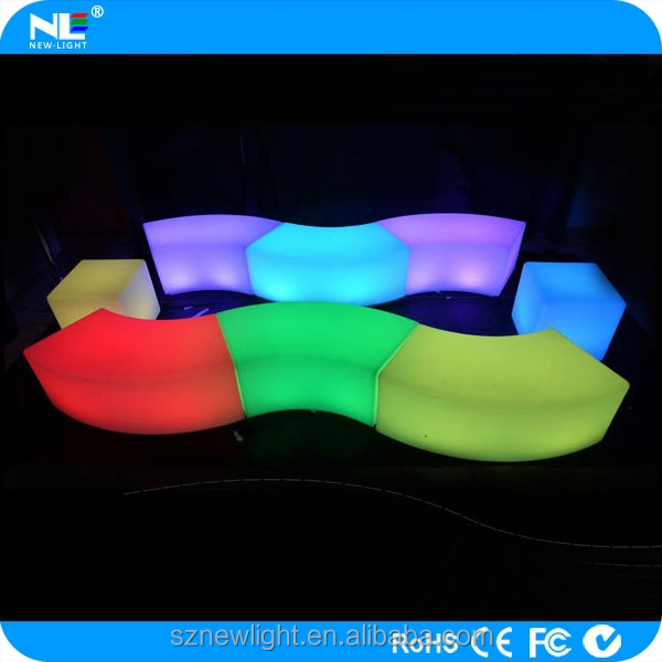 Child friends ,led game stool .round led light seat , party led for playing game or party /display