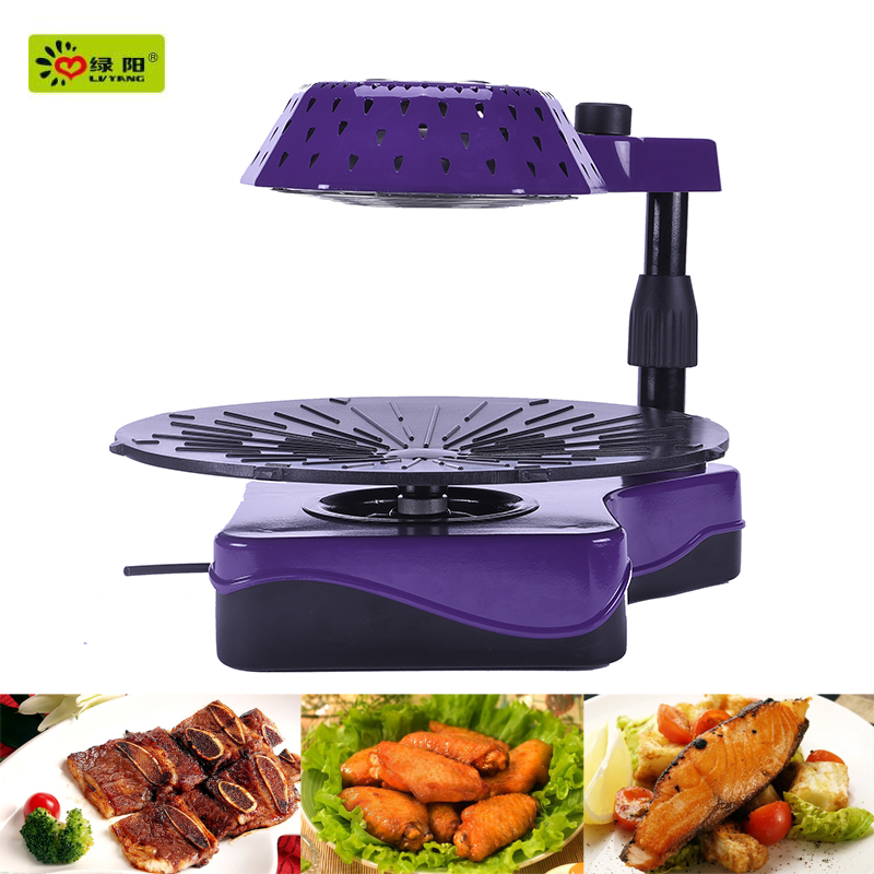2016 electric bbq grill infrared ray heating used bbq grill with pork baby back ribs in oven