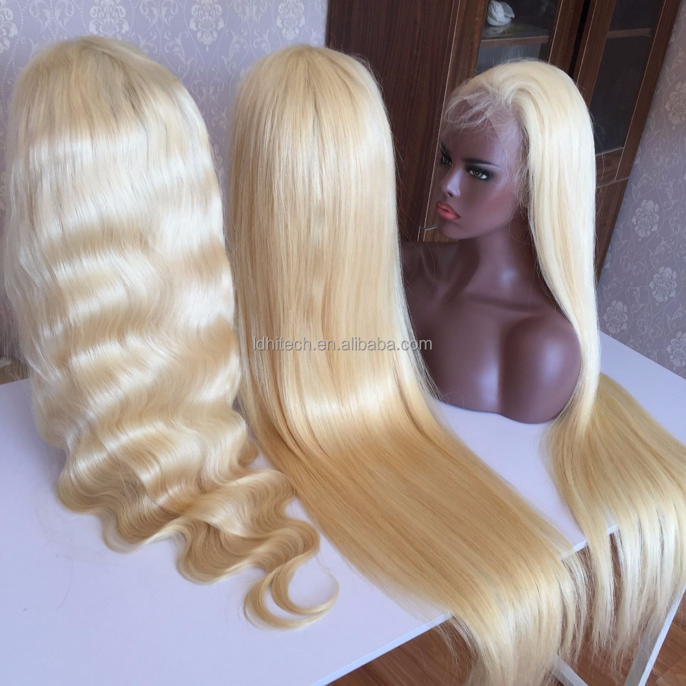 Wholesale high quality 613 full lace wigs human straight hair , Fast shipping human hair wigs , unprocessed 613# full lace wig фото