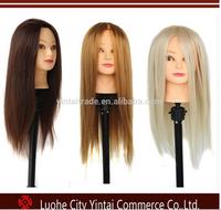 2016 high quality professional100% human hair mannequine training head