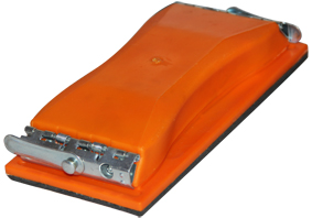 210mm orange plastic square hands pads with lock system