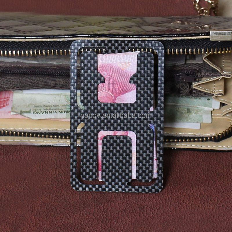 Book elegant radiation protection custom carbon fiber card money clip