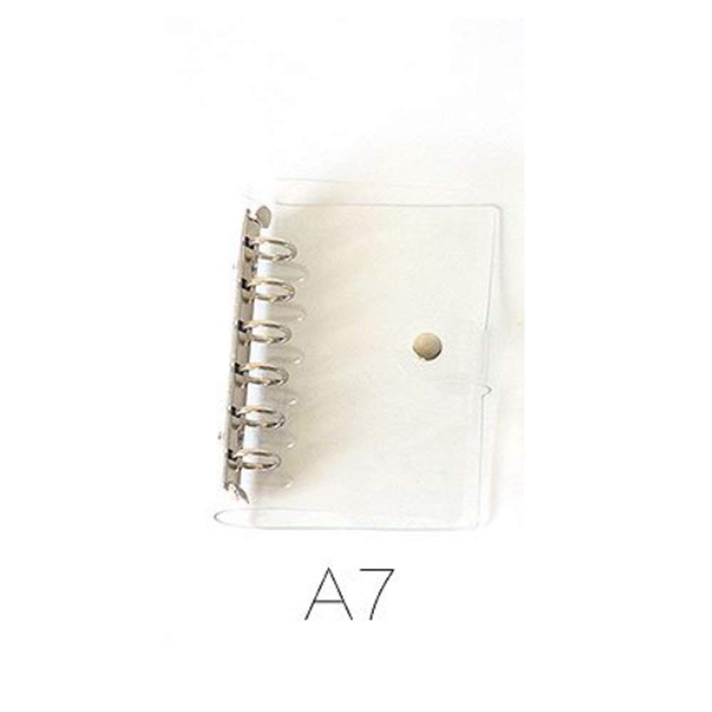 In Kind-Hearted A7 A6 A5 Pvc Spiral Notebook Cover 6-hole Ring Binder Novel Design;