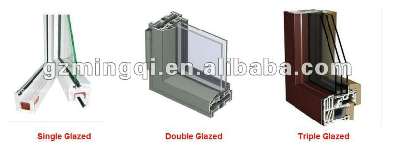 wood grain aluminum glass sliding door with built-in blinds