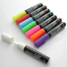 1PCS white color Neon Fluorescent Liquid Chalk Marker Pen Board Sign  Free shipping