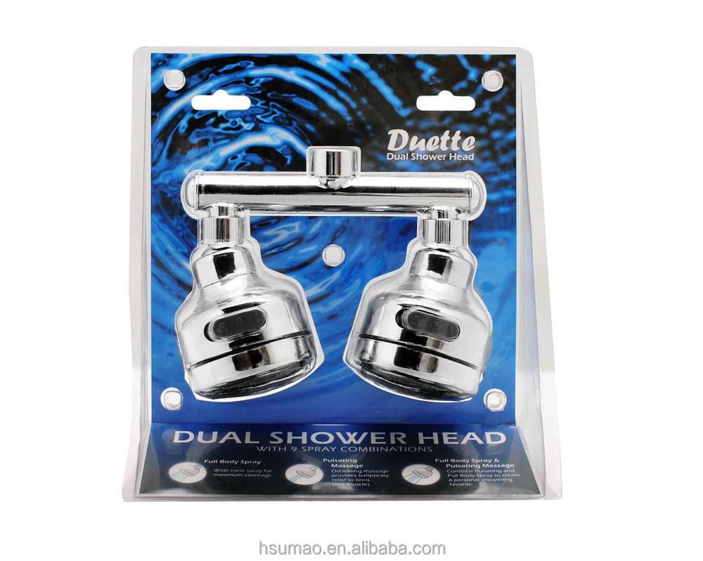 Dual Rain And Waterfall Head Shower Head For Steam Shower Room - Buy ...