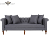 Middle century style buttoned nail trimed upholstery sofa