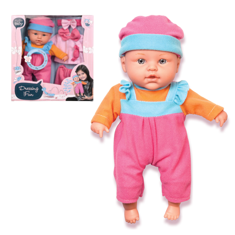OEM Soft Like Real Baby Doll Toys with Replaceable Clothes for Little Girls as Gifts