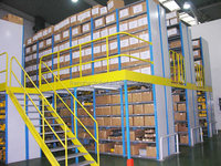 Powder Coated Metal Steel Platform, Mezzanine Rack Storage Racking System