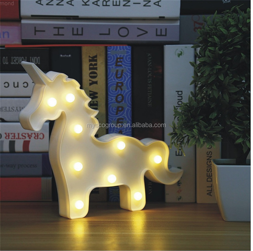 Unicorn light Lovely Unicorn Night Lights Mood Nights for Kids Children Sweet Nursery Room Decorations