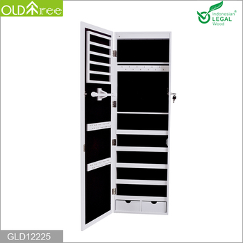 Oldtree New Wall Mounted Mirror Jewelry Cabinet Armoire