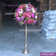 LFB724 45cm table center decoration hot pink purple and ivory peony indoor flower arrangements wholesale
