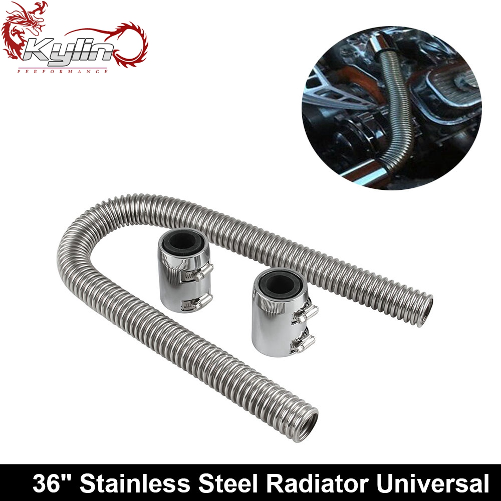 Ryanstar Universal 36'' Stainless Steel Radiator Flexible Coolant Water <strong>Hose</strong>