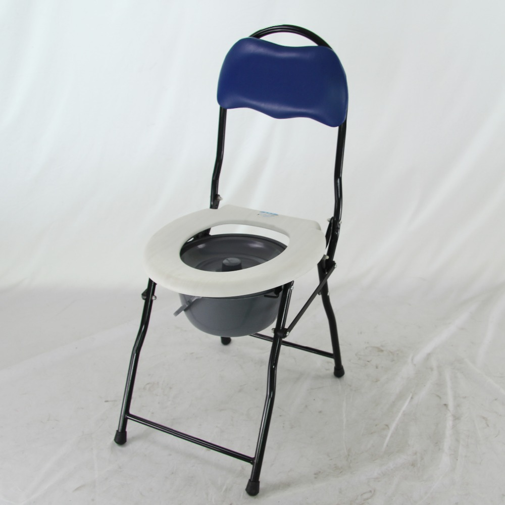Home Medical Care Folding Toilet Frame Potty Chair Adult