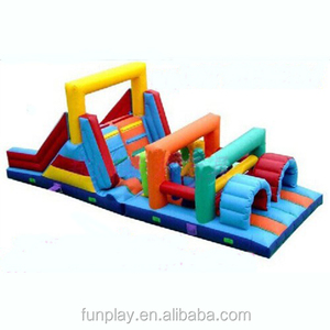 HI Funny game 0.55mm PVC cheap inflatable obstacle course,adult inflatable obstacle course toys,kids inflatable obstacle course