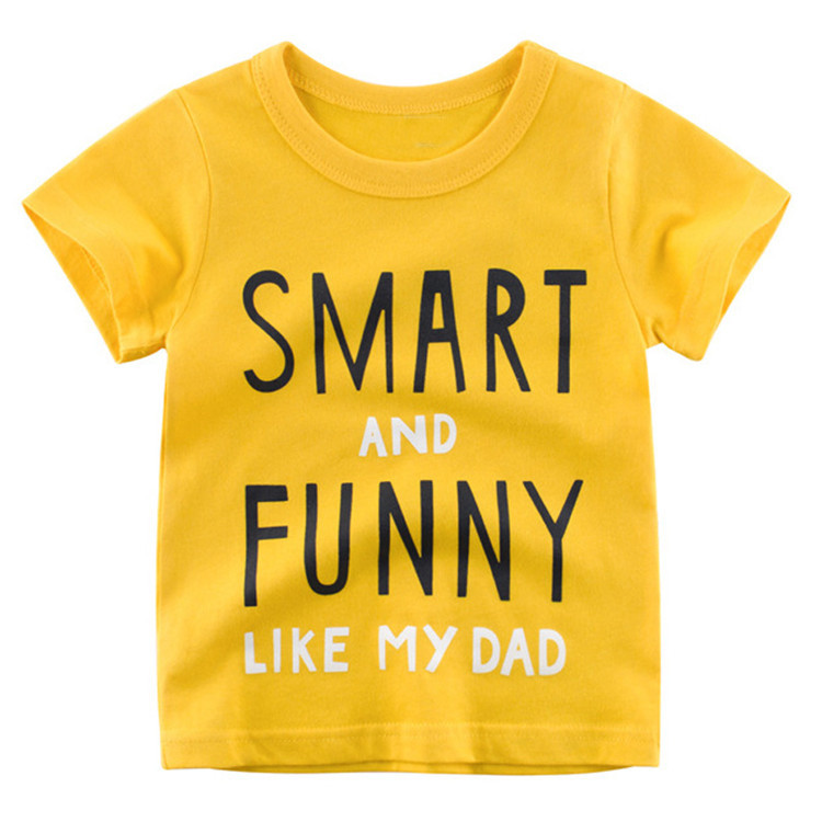 Custom baby clothing short sleeve cotton boys clothes children T-Shirts Clothes Cotton Toddler Letter Tops