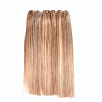 Cheap Chinese Remy Hair Weaving On Sale Silky Straight Blended Color Hair Extension