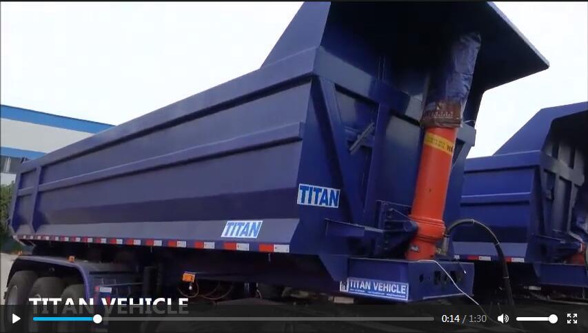 High quality 3 axle rear dump trailer hydraulic 40 Ton tipping trailer