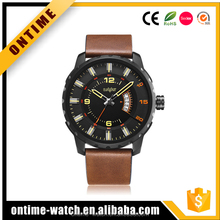 High Quality Japan Quartz Movt Waterproof Alloy Analog Men's Watch