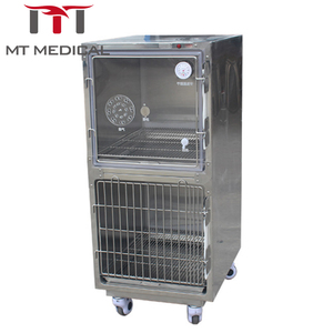 China Pet dog supply stainless steel vet care use veterinary oxygen supply cage