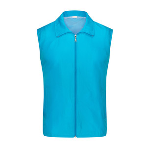 Blank anti-shrink 100% polyester cheap waterproof promotional vests men