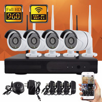 Price in Sri Lanka All in One 960P 4CH DVR NVR Kit Security Wireless CCTV Camera System