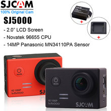 SJ 5000 Mini Cam Original SJCAM SJ5000 Basic Sports Camera Waterproof Outdoor Sport Camcorder + Extra Battery + Desktop Charger