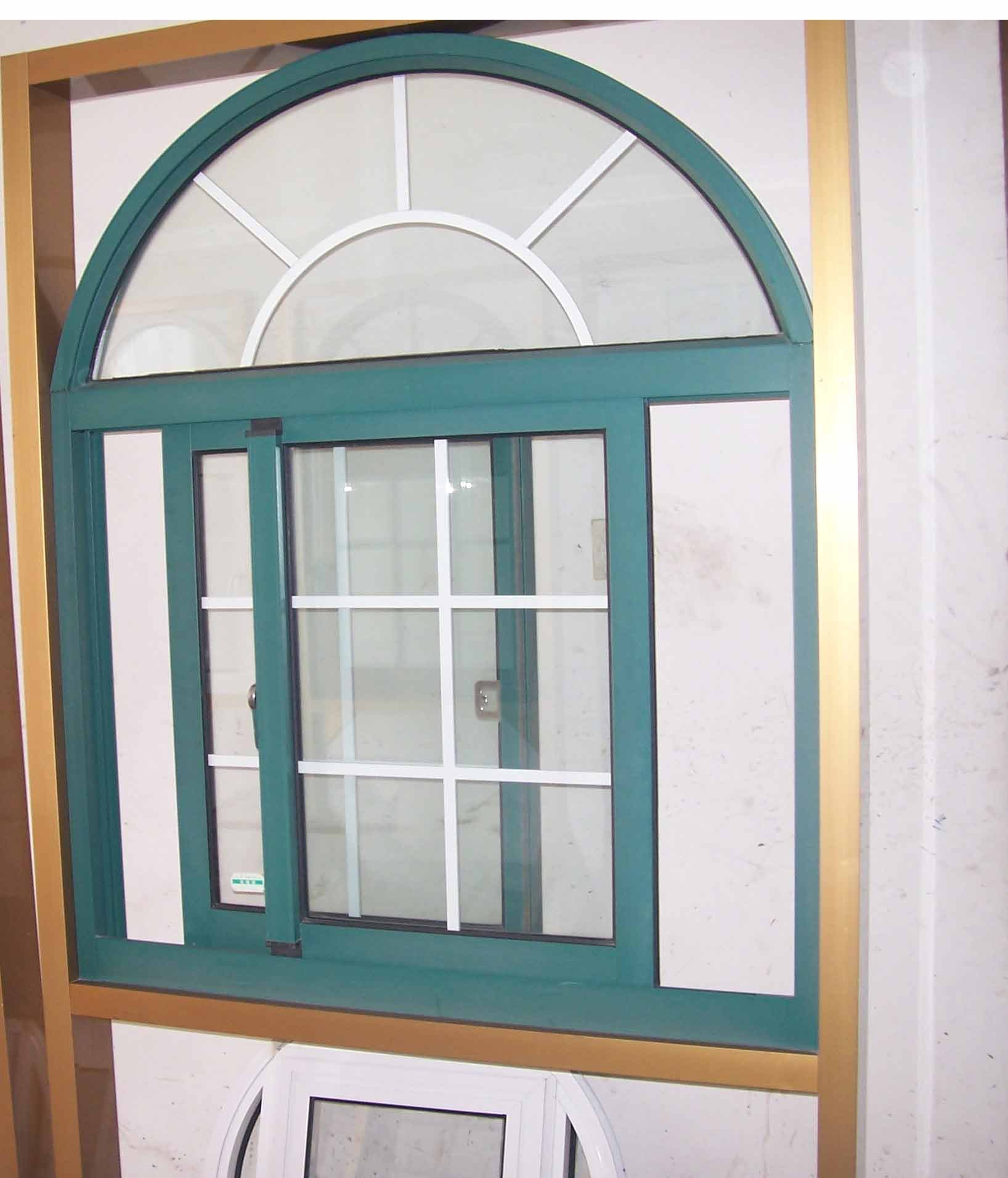 Aluminium Fixed Arch Top Window ; Arched Sliding Window