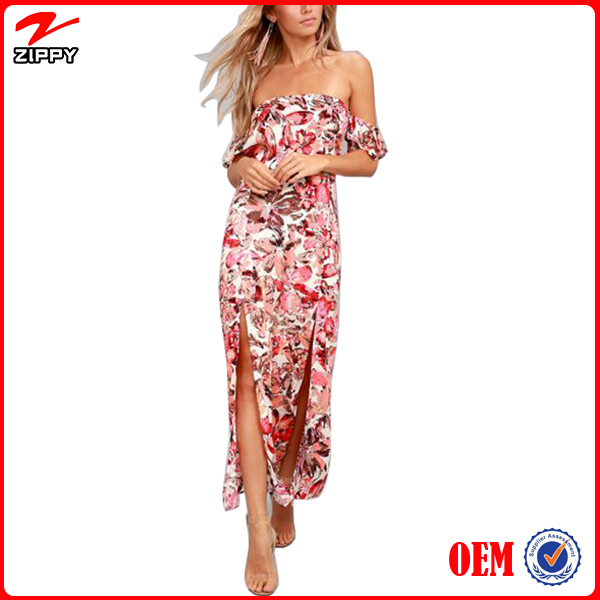 Floral Long Dress Wholesale Prom Dress Collection For Women
