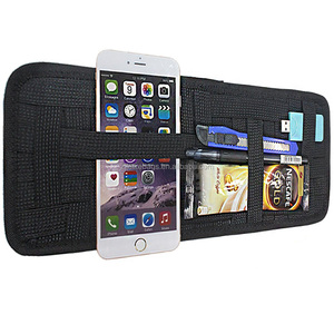 Multi-purpose Anti-slip Elastic Nylon Fabric Car Sun Visor Organizer