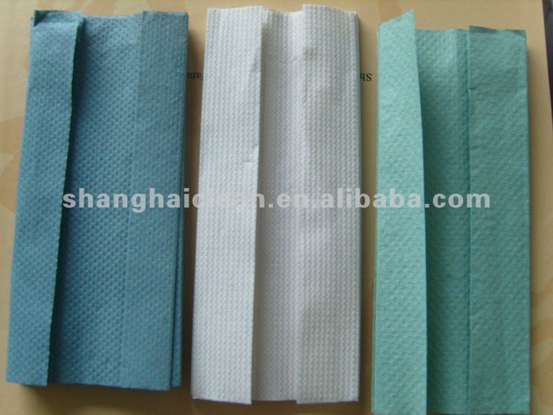 Hot!! C fold disposable antibacterial hand towel paper