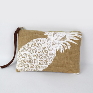 Factory jute hemp toiletry cosmetic makeup bag