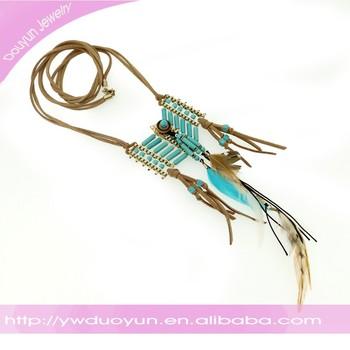 11387d130d4c Gypsy Gamuza Turquesa Tejido Collar Tribal - Buy Collar Tribal ...