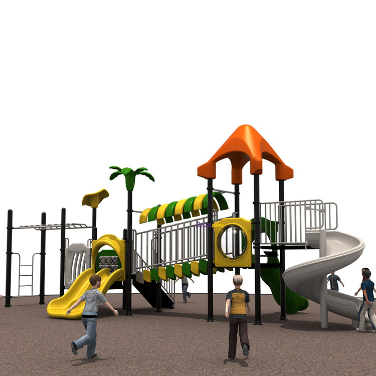 Hot selling Plastic Preshool Outdoor Playground Kids slide Playsets