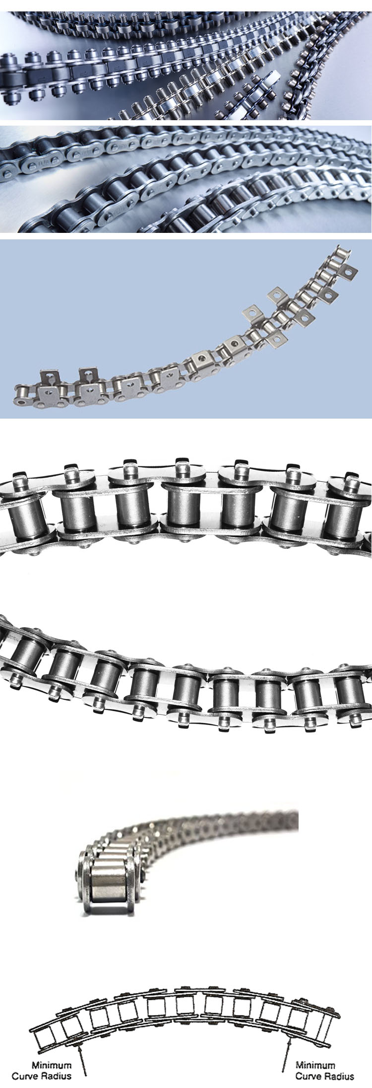 08BSBF1 Side Bow Roller Chain for transmission