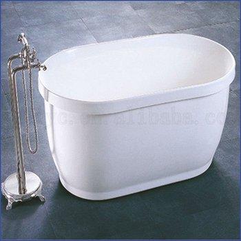 1300mm Acrylic Bathtub Simple Small Freestanding Bathtub