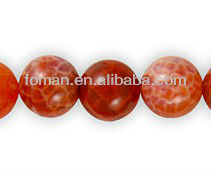 8mm round fire agate semiprecious stones wholesale