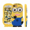 Free shipping Lovely 3D Cute Cartoon Soft Silicone Minion Back Cover Case For iphone 5s 6s 6s plus 7 7plus
